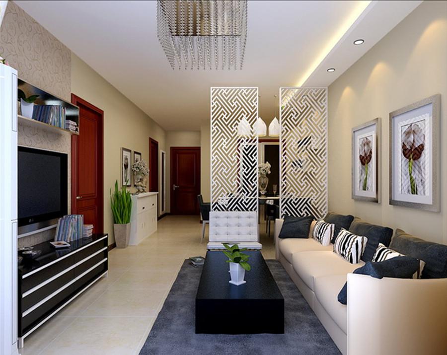 东亚瑞晶苑-三居室-88.00平米-客厅装修效果图-3套88平刚需户型装修 高清图片