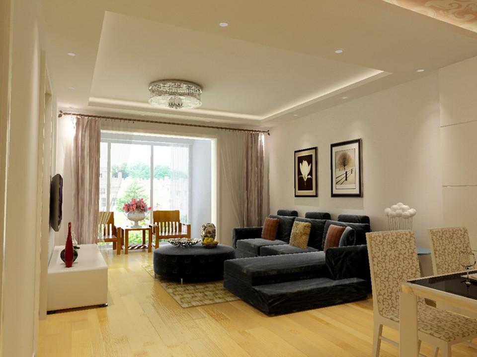 金顶阳光-二居室-88.00平米-客厅装修效果图-3套88平刚需户型装修 现高清图片