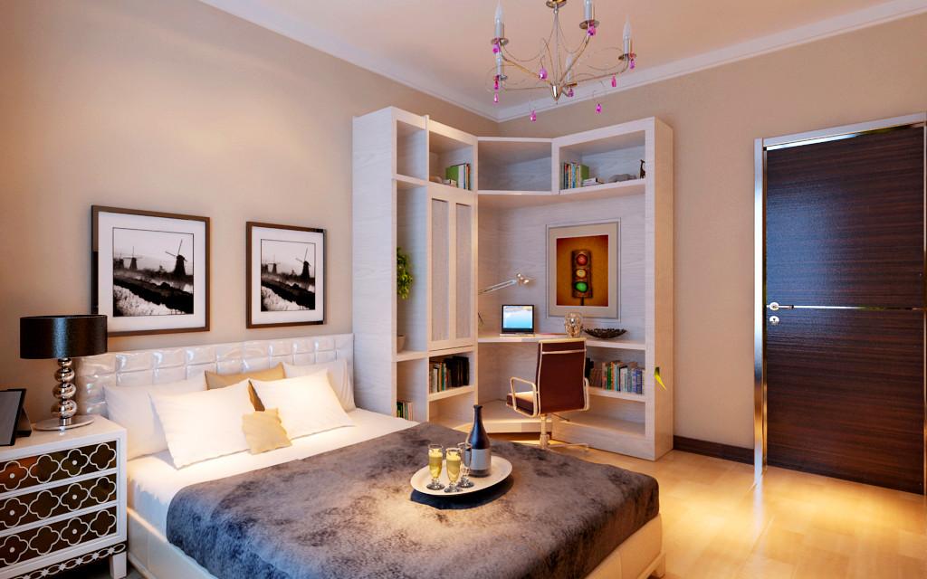 工体南路小区-二居室-80.00平米-卧室装修效果图高清图片