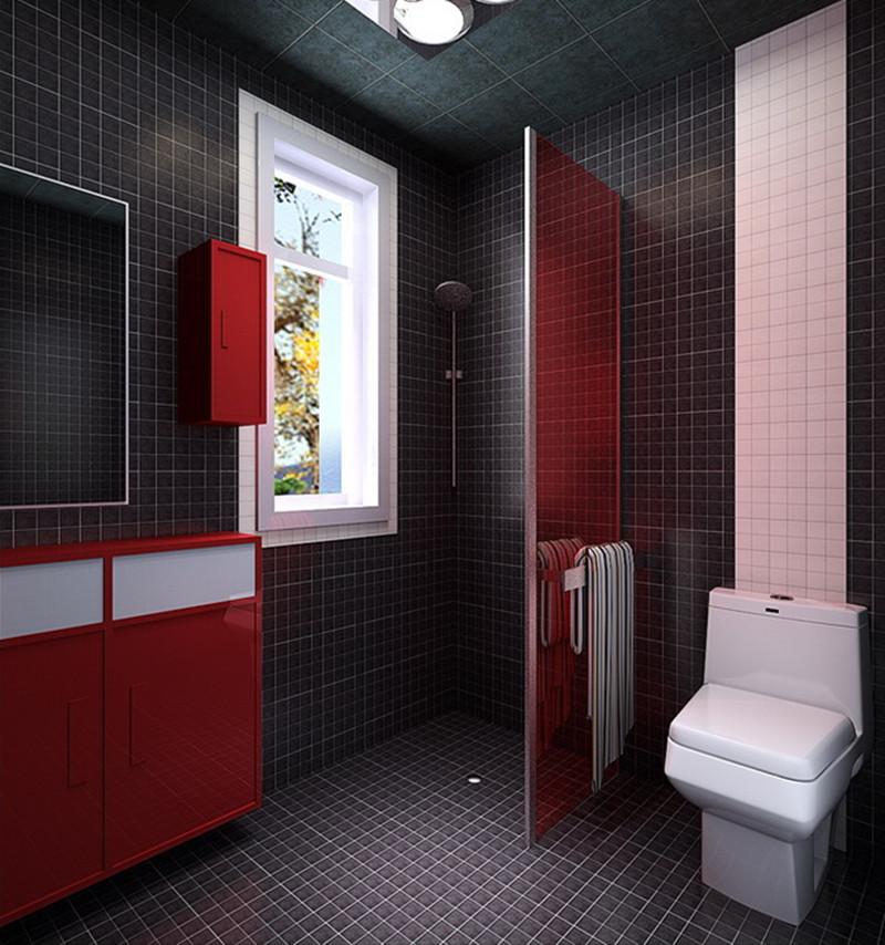 东亚瑞晶苑-三居室-88.00平米-卫生间装修效果图-3套88平刚需户型装高清图片