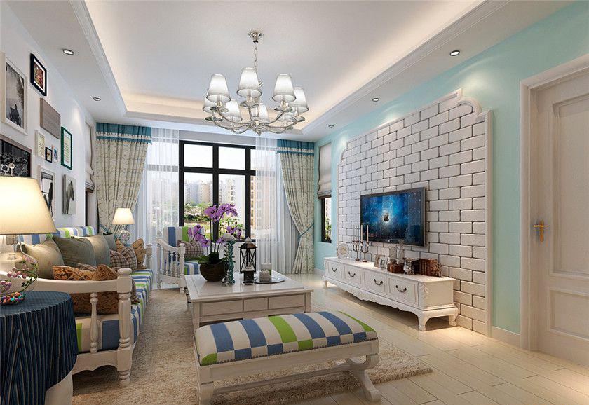 双花园南里-二居室-90.00平米-客厅装修效果图-80后的精美装修 3种风高清图片