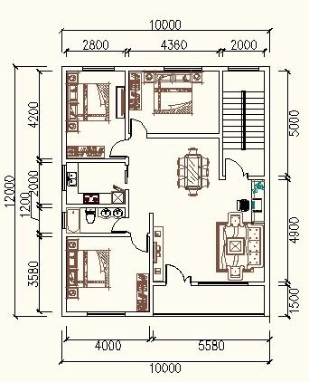 10乘12的房屋设计图