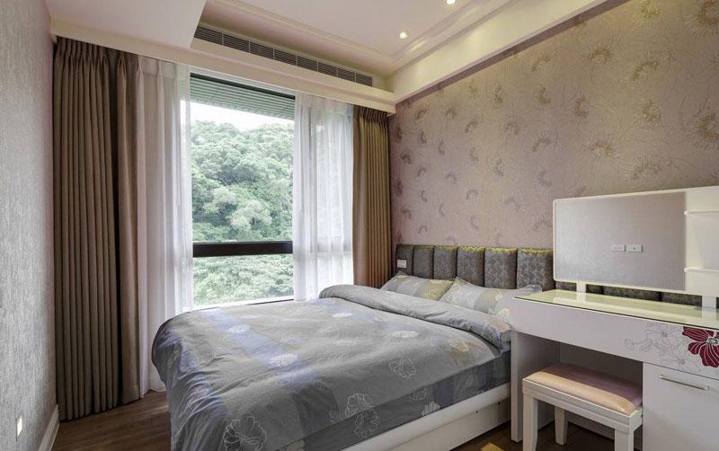 首开国风美唐-二居室-90.00平米-卧室装修效果图-三口之家的90平二居高清图片