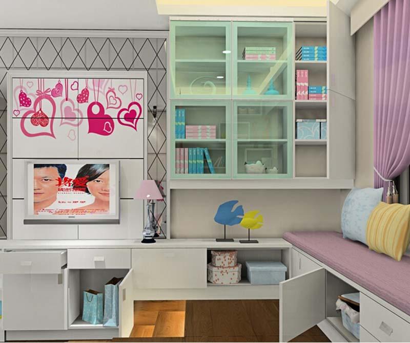 中广宜景湾-二居室-77.88平米-卧室装修效果图-2万半包现代简约小户高清图片