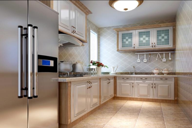 格林-三居室-88.70平米-厨房装修效果图-80平小户型如何装修 3套高高清图片
