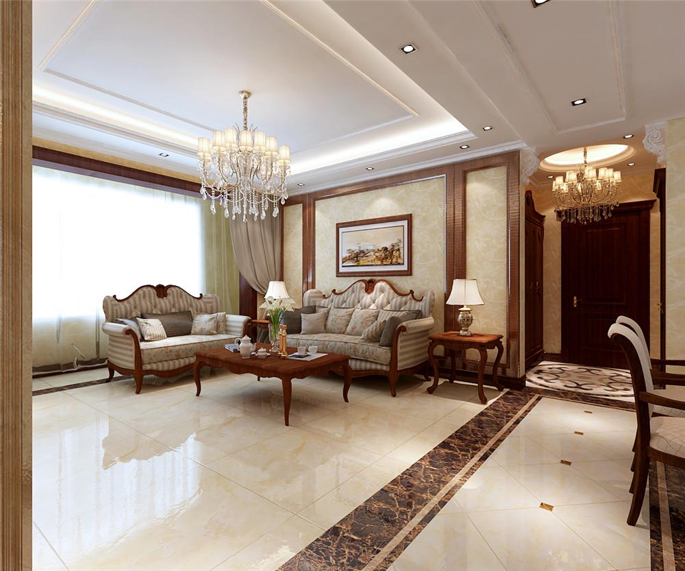 北京雅仕兰庭简欧风格三居室装修效果图_140平米9万-.图片