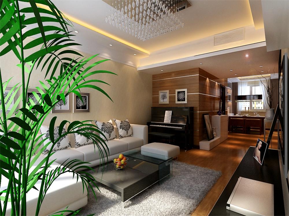 在本案的设计中客厅电视背景墙和沙发背景墙嫩黄色壁纸,体现港式风格图片