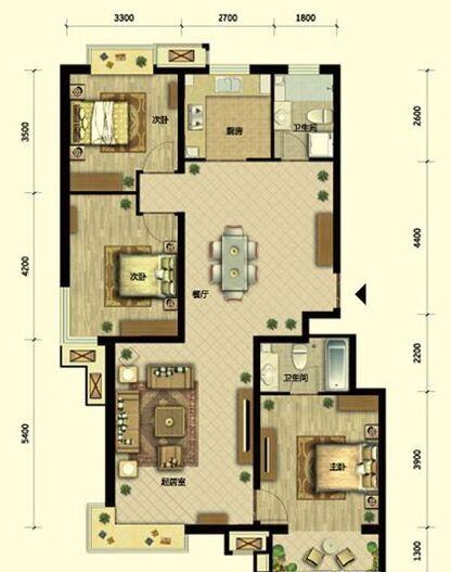 0平米-户型图装修效果图-高预算买房 低预算家装 半包4.8万装修125高清图片