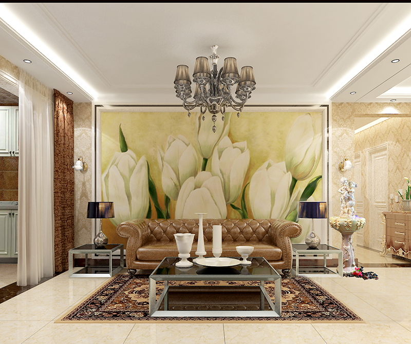 客厅沙发背景墙效果图展示