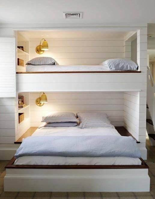 经典美式儿童房实木双层床装修设计
