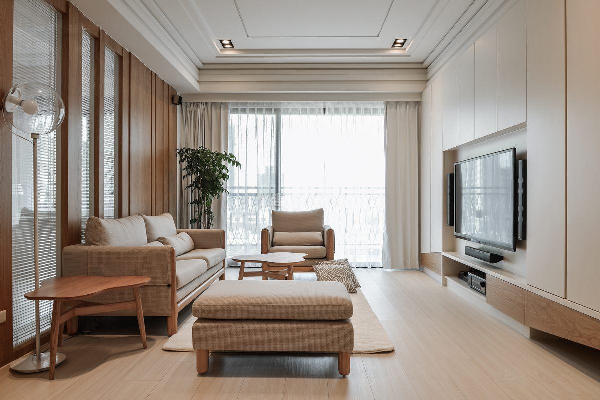 日式简约小户型紧凑客厅装修效果图 房天下装修效果图
