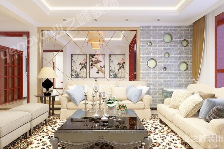 208平米五居室装修案例 中式全包1万!-天鹅庄园装修