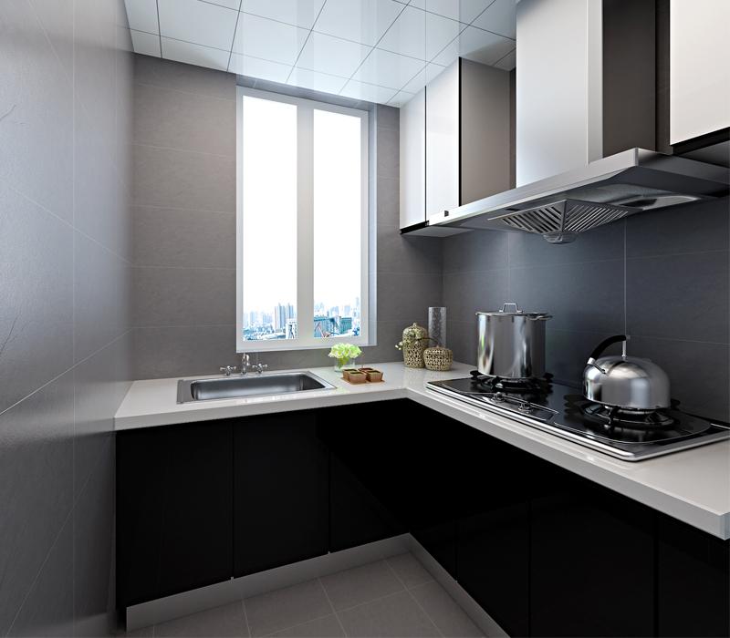 一居室-56.88平米-厨房装修效果图-56平米超小户型装修 全包8万打造高清图片