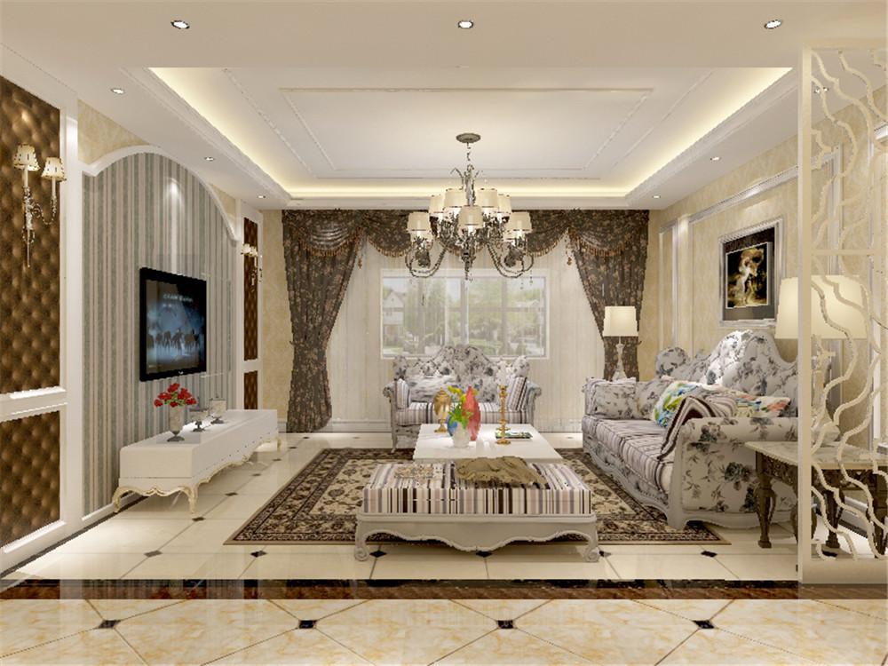 灯槽照射出的黄色光让室内更加温馨和谐,简单又不乏时尚感,沙发背景墙图片