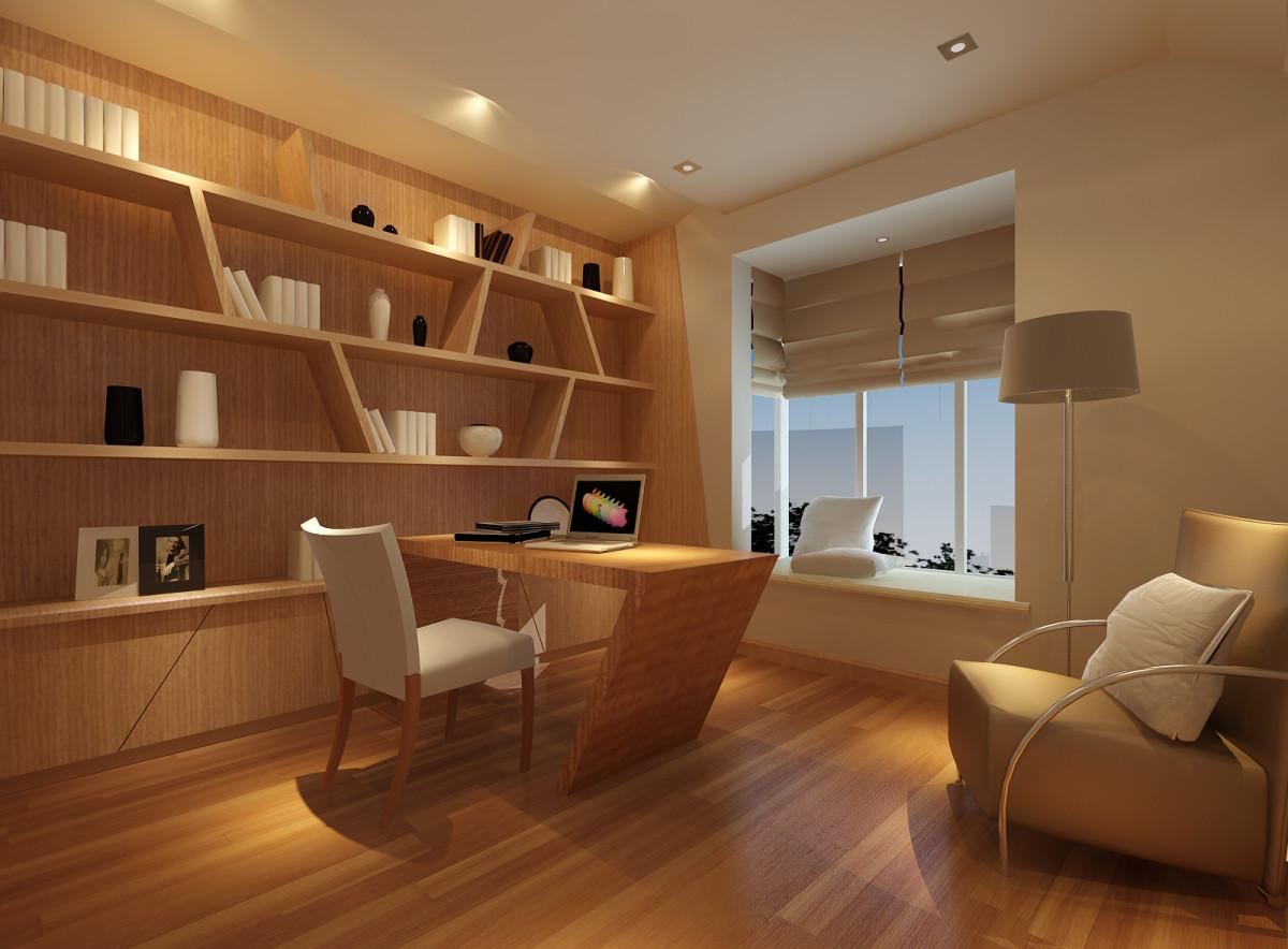 华业东方玫瑰-二居室-94.00平米-书房装修效果图