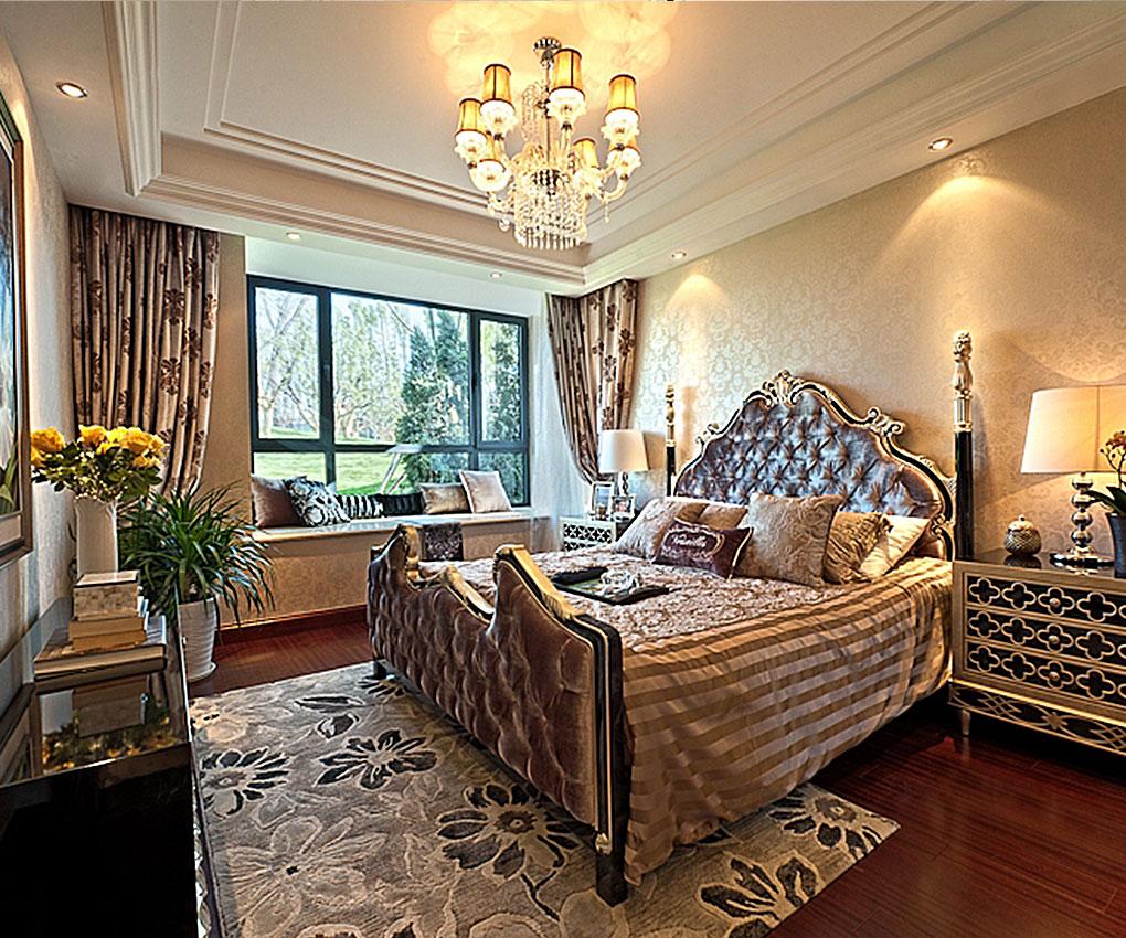 卧室同样延续了客厅的设计风格,浅色简约的背景墙,加上浅暖黄色的窗帘,明亮的空间,卧室变得充满阳光、安静、舒适,可以让人有很好休息、睡眠。