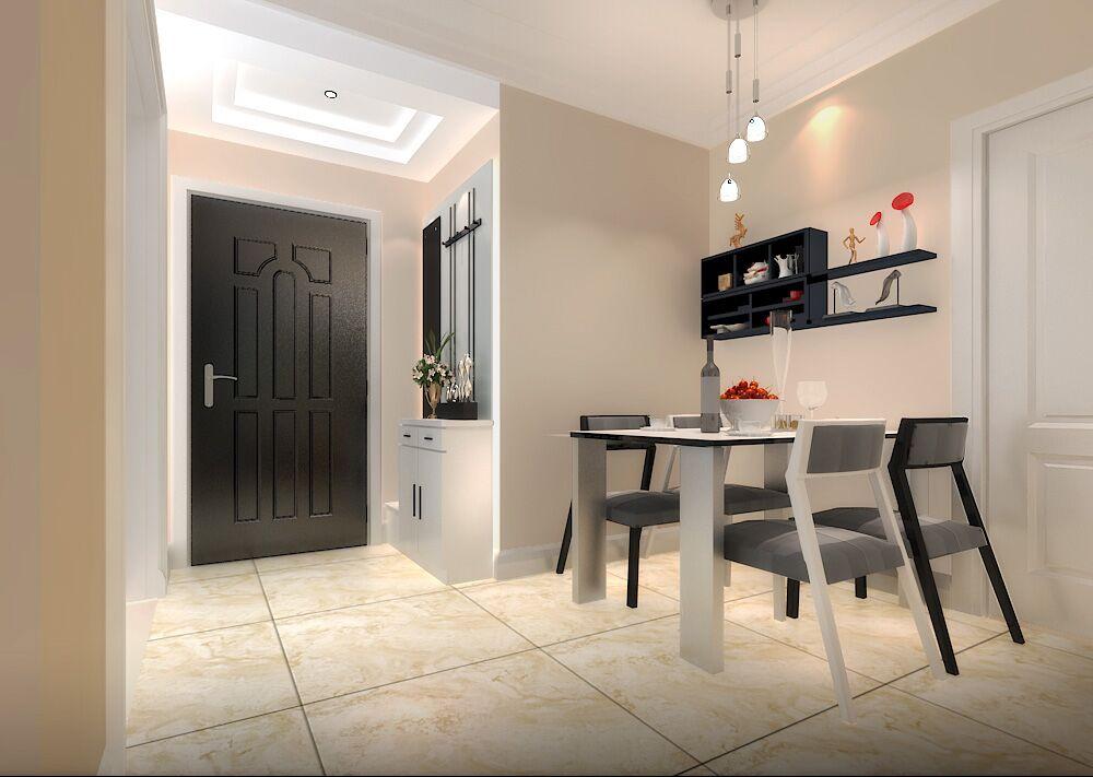 """本案属于小户型,传统两居,设计师力求将有限的空间利用起来,各个区域尽量合理、完美的利用,满足了空间的功能要求,同时也打造出了自然舒适的居住环境。半开放式厨房、酒吧式用餐区等区间的巧妙划分,营造出一个极具个性的小户型单位。家具布置与空间密切配合,这样不仅节约空间和材料,而且使室内布置清爽、有序,富有时代感和整体美,体现了现代派所追求的""""少就是多""""的简约化设计。"""