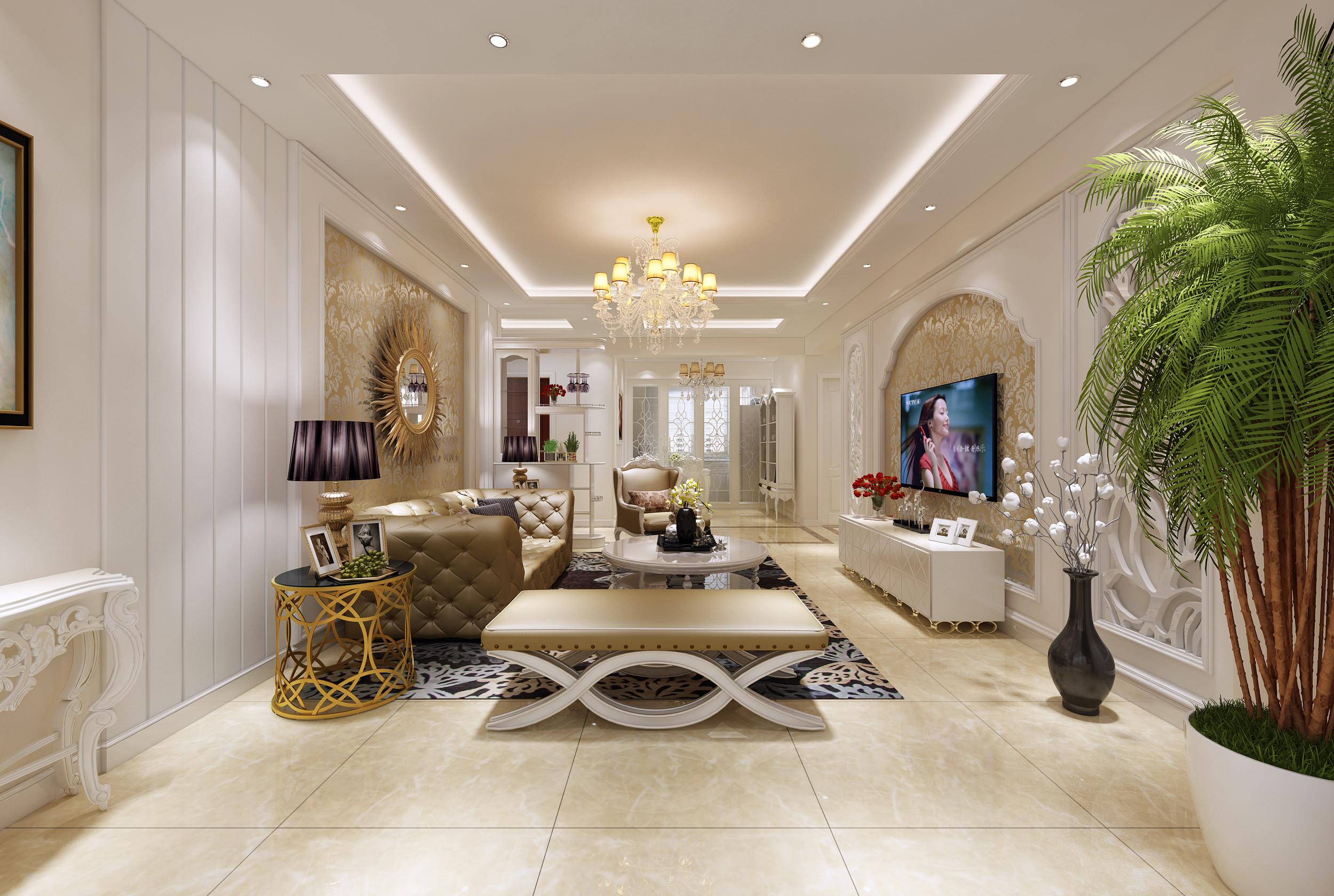 中海城-简欧风格-二居室-装修案例图片