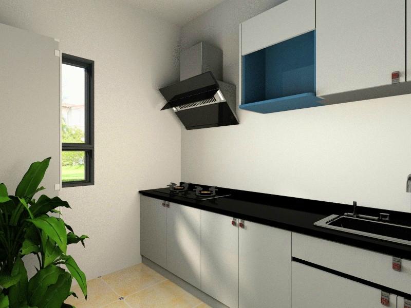 3套小户型简欧风格装修效果图 全包8万装修88平米三居室高清图片
