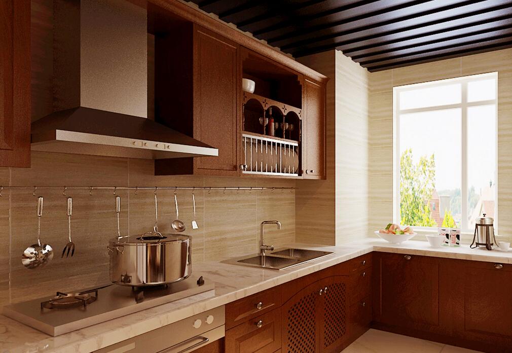 首开国风美唐-二居室-82.00平米-厨房装修效果图