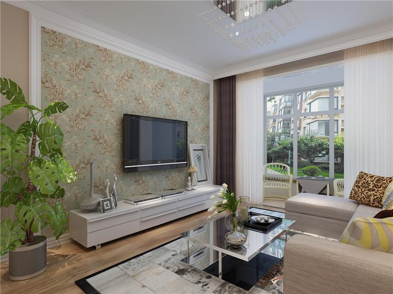 顶面采用直线条吊顶造型,简约时尚。配合后期宜家和现代感十足的家具软装更让空间变得灵动与时尚。