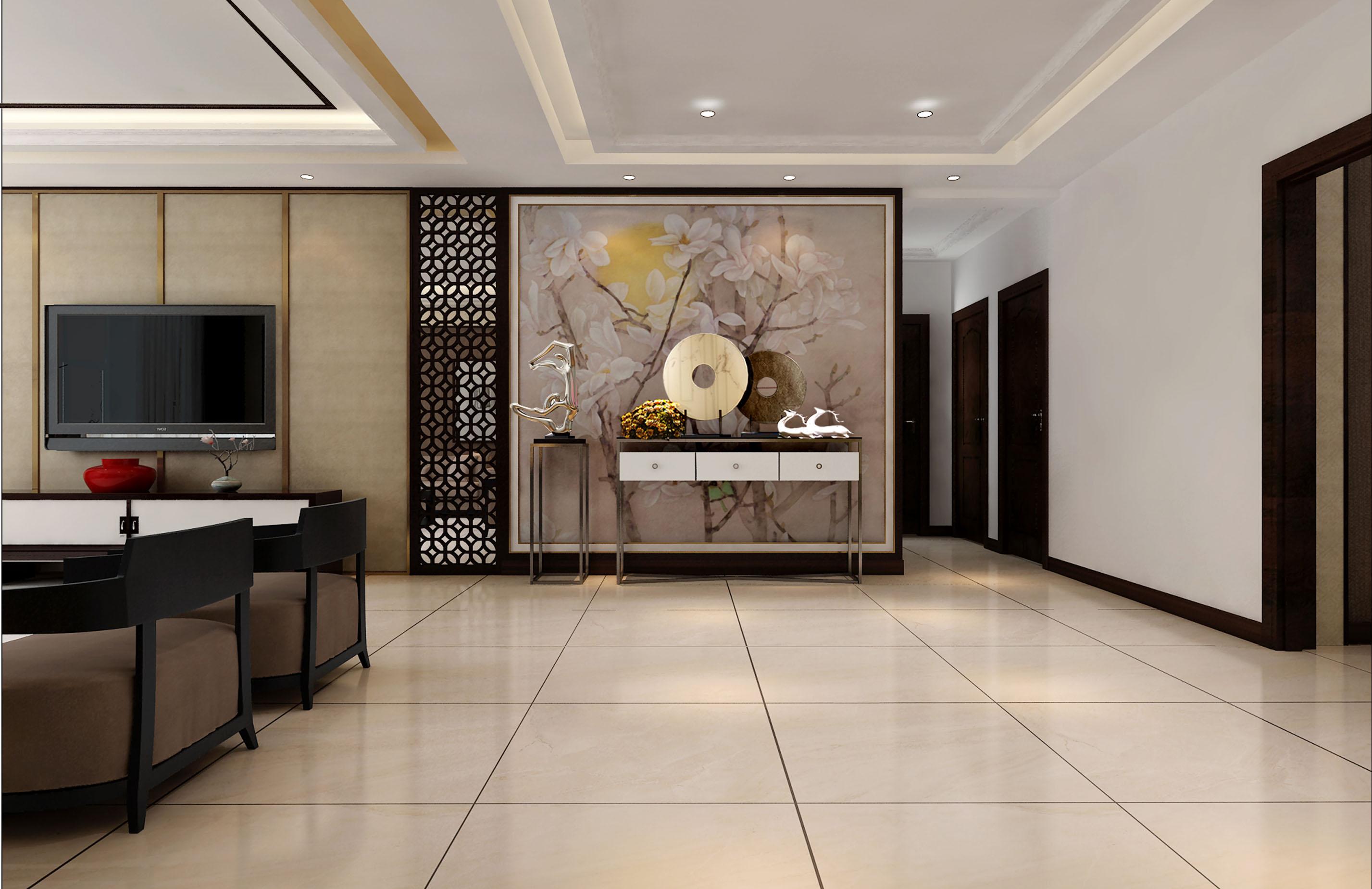 绢画壁布使空间得到提升