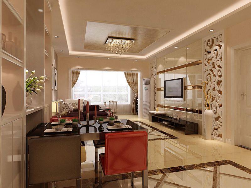 正商书香华府现代简约风格175平洋房客厅装修效果图——客厅