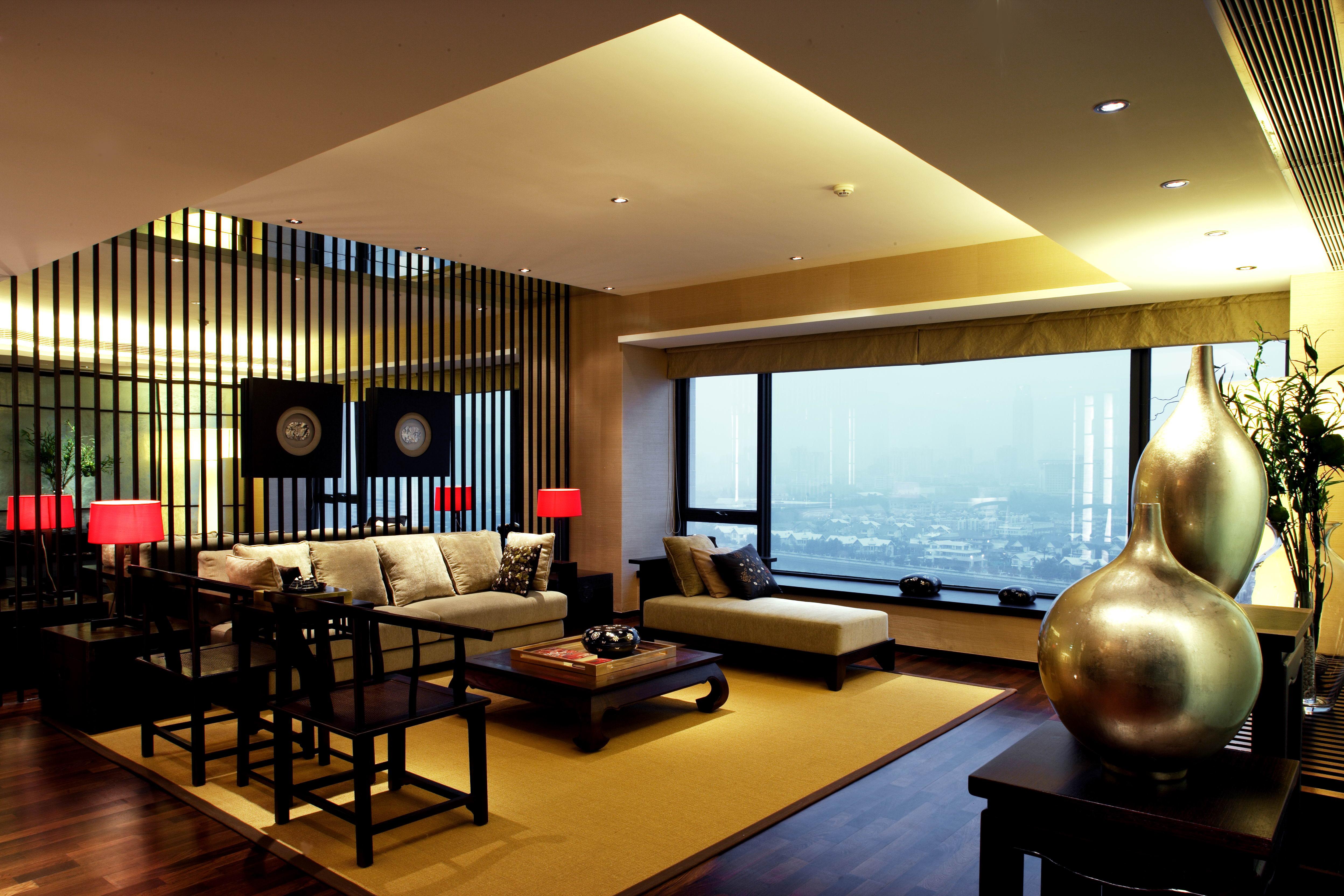 中式风格三居室200平米21万-云锦世家别墅装修案例-房