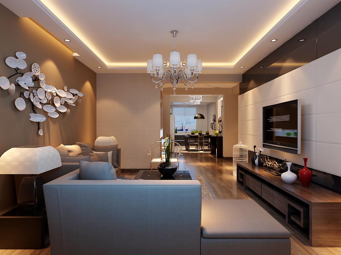 新中式风格三居室装修效果图120平米10万新中式风格三图片