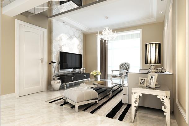 这间客厅非常的整齐,感觉受到了阳光的沐浴与照耀,整个客厅都非常的明亮,让人觉得心旷神怡。