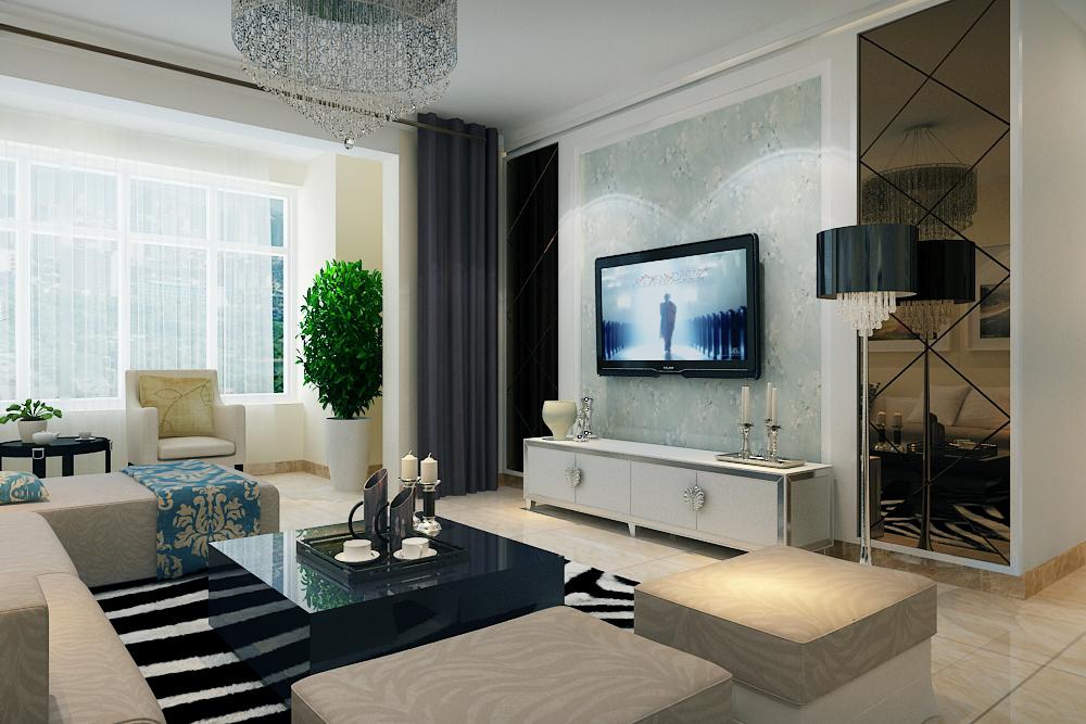 风格特点:室内墙面,地面,顶棚以及家具陈设乃至灯具器皿等均以简洁的图片