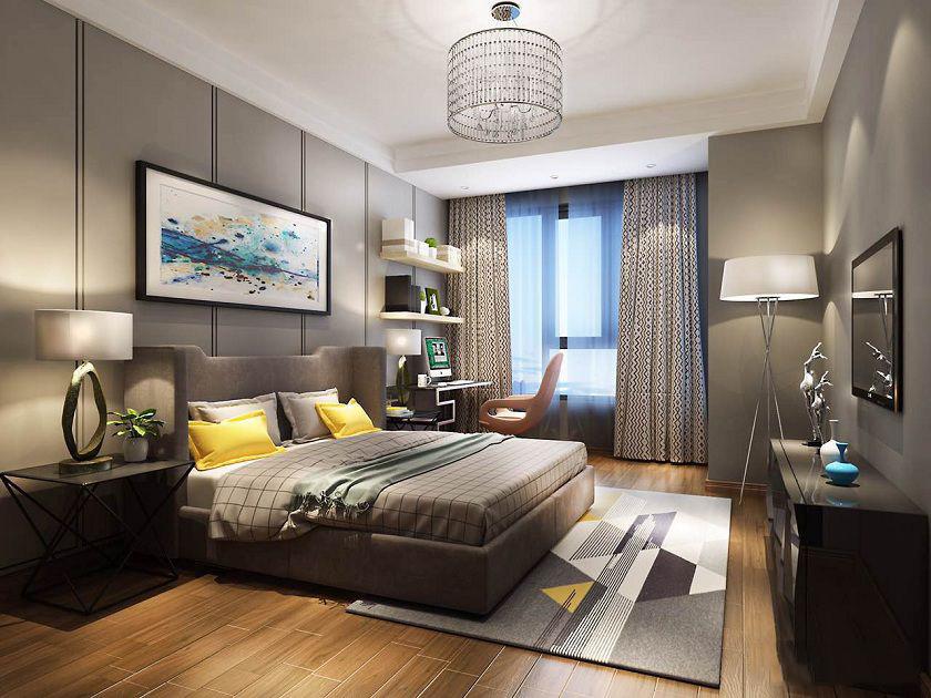 龙湖春江郦城-二居室-90.00平米-卧室装修效果图