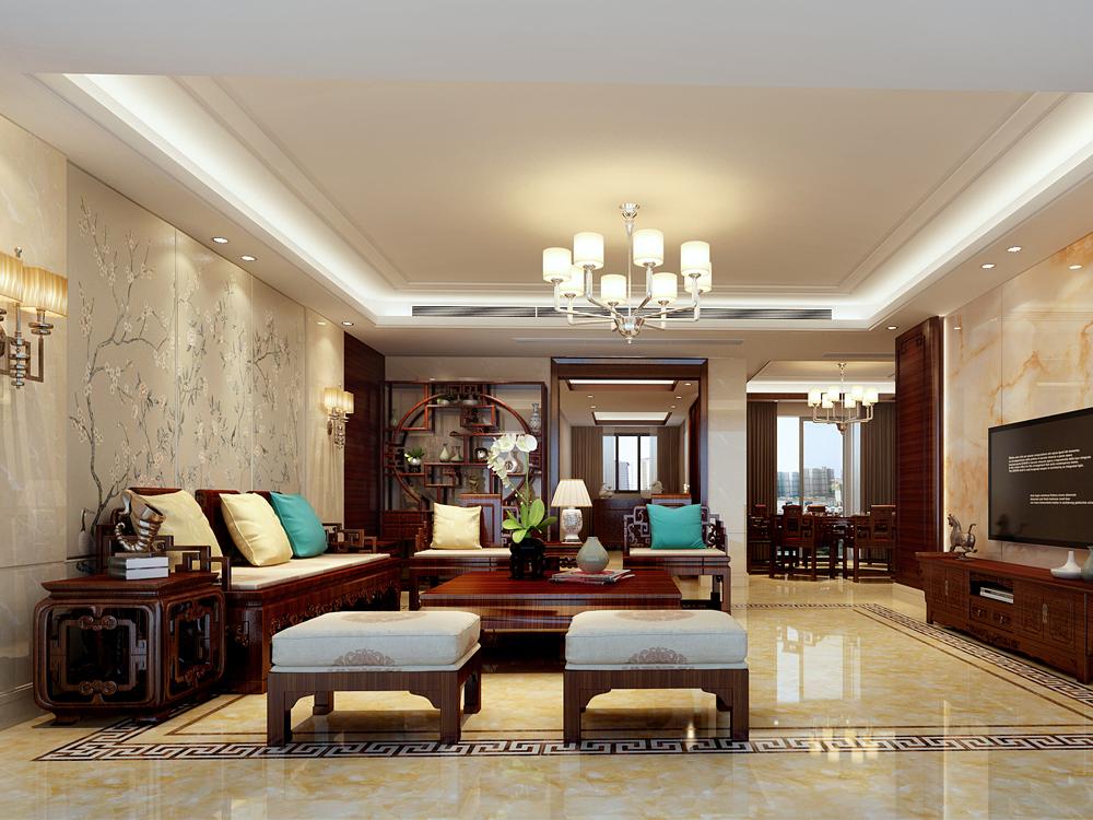 210平米五居室精美装修 中式半包22万!-前海时代·CEO公馆装修