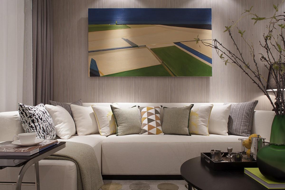 家的创意 个性现代风102平二居室