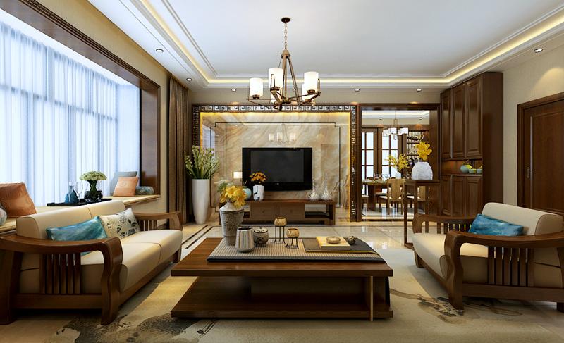 160平米三居室如何装修 中式半包6万!-绿景未来城装修