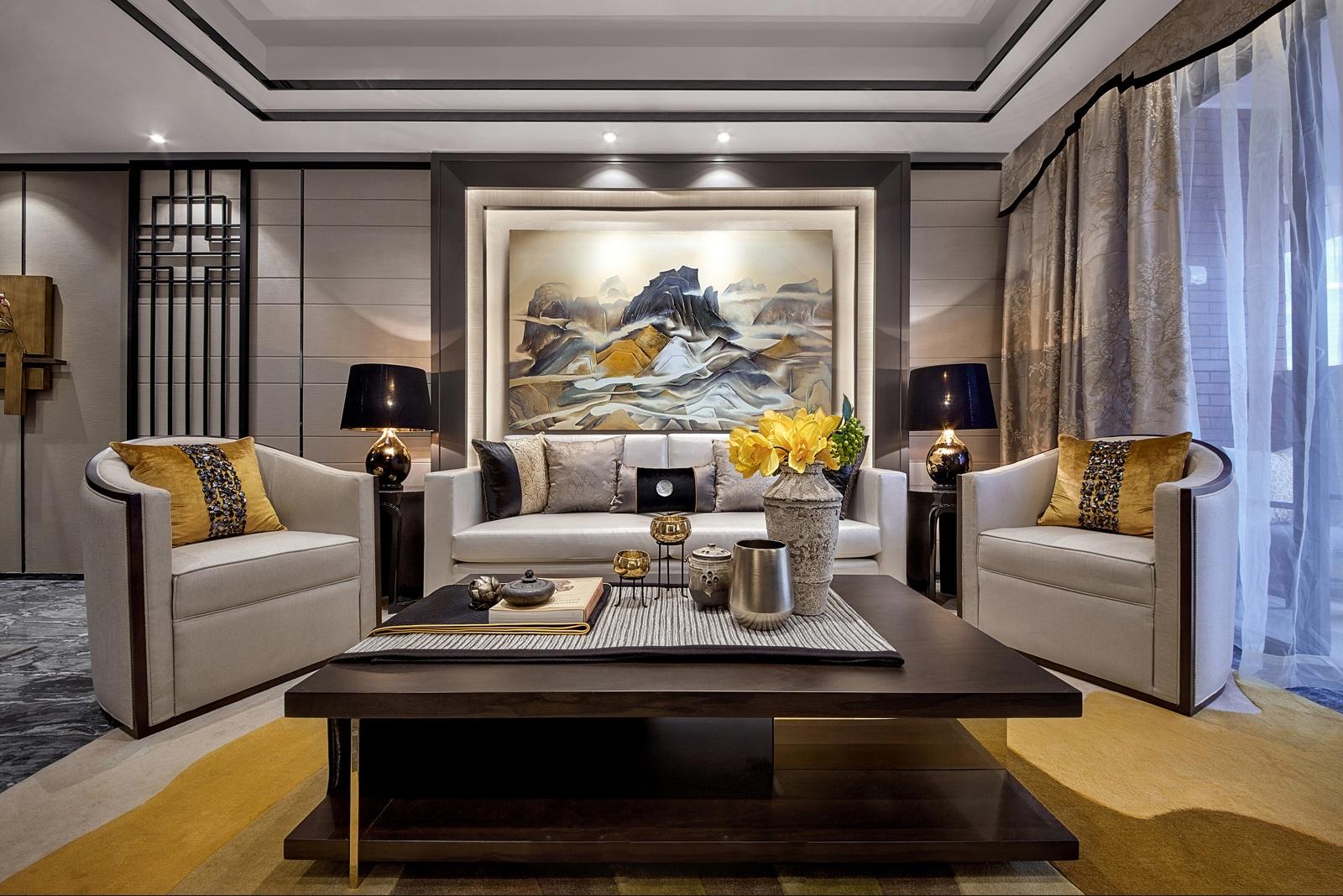181平米四居室精美装修 中式古典半包8万!-方圆云山诗意装修