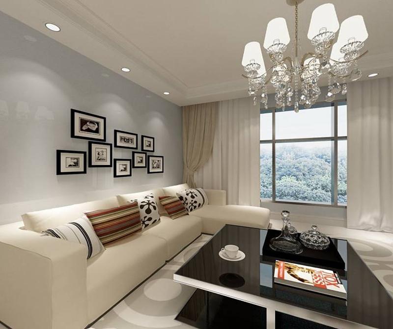 127平米四居室装修案例 现代简约全包10万!-保利百合花园装修