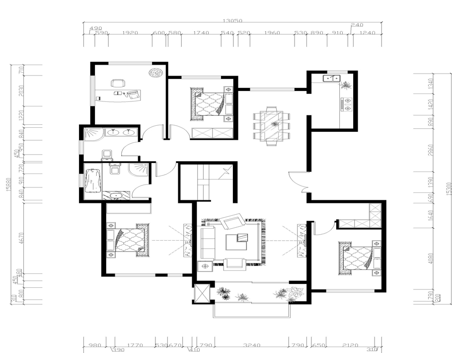 一楼家具布置图