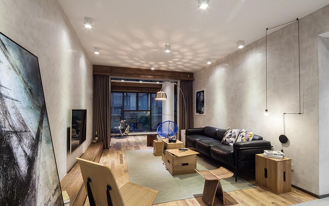 86平米二居室如何装修 现代简约全包7万!-首创大河宸章装修