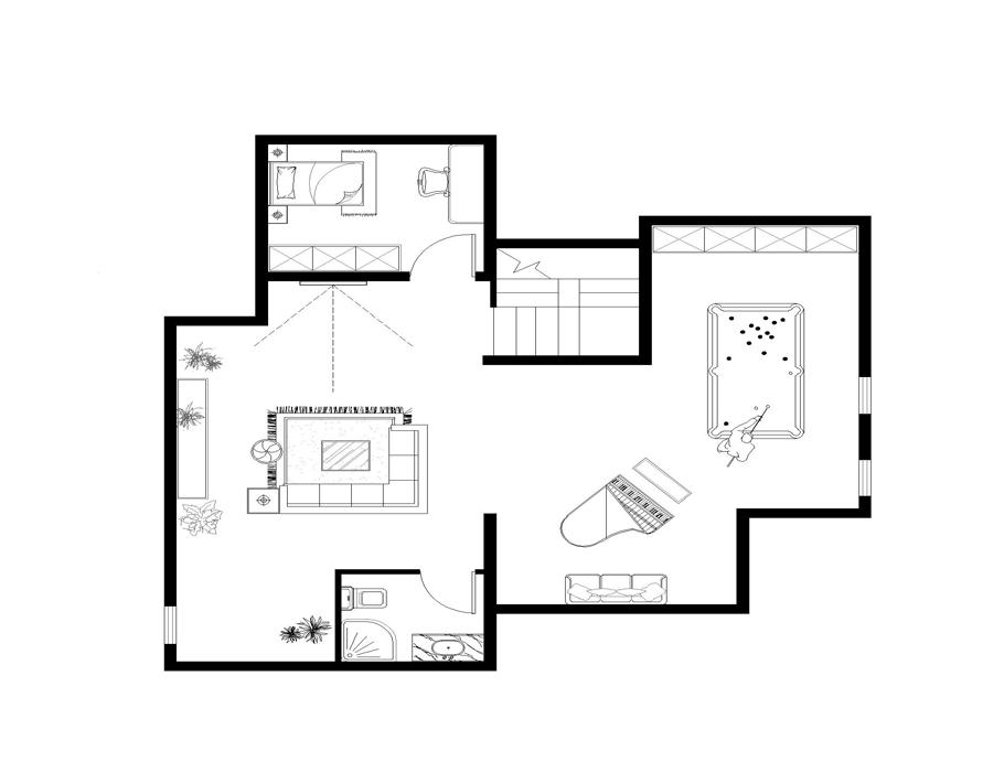 二楼家具布置图