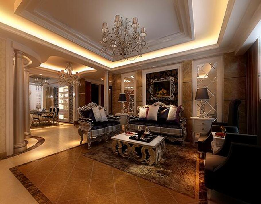整个空间弥漫着奢华与浪漫的气氛,硬朗的材质,明快的色彩、柔美的家具、雅致的配饰,赋予空间素净、明亮的神采
