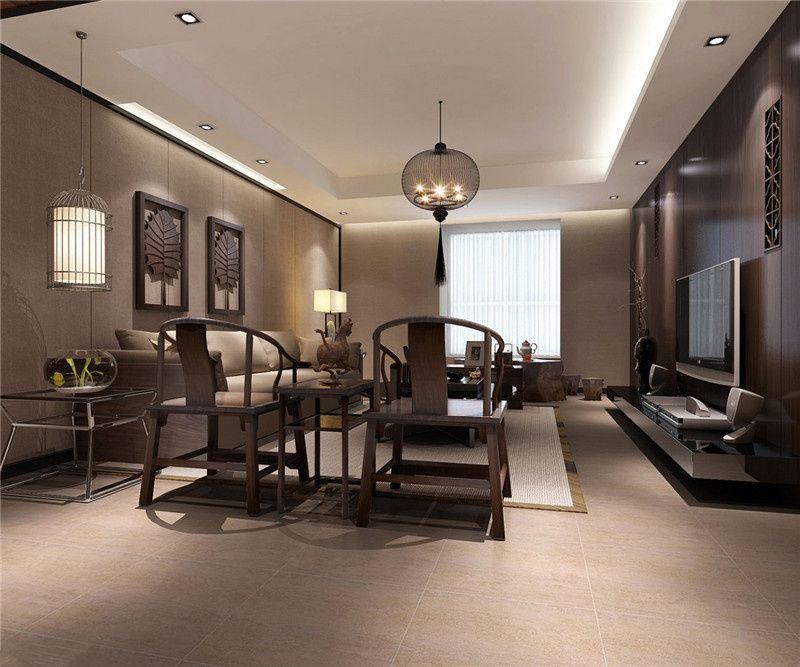 138平米三居室精美装修 中式半包4万!-瑞地祥和府装修