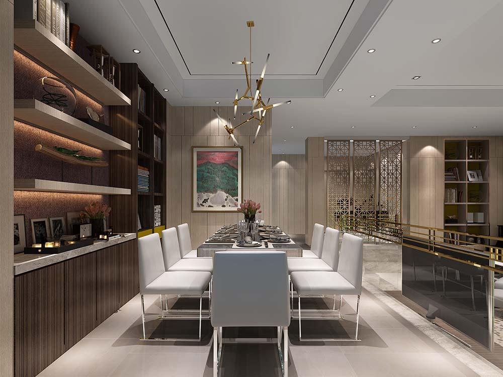 仁恒观棠-现代港式风格-别墅-装修案例设计说明图片