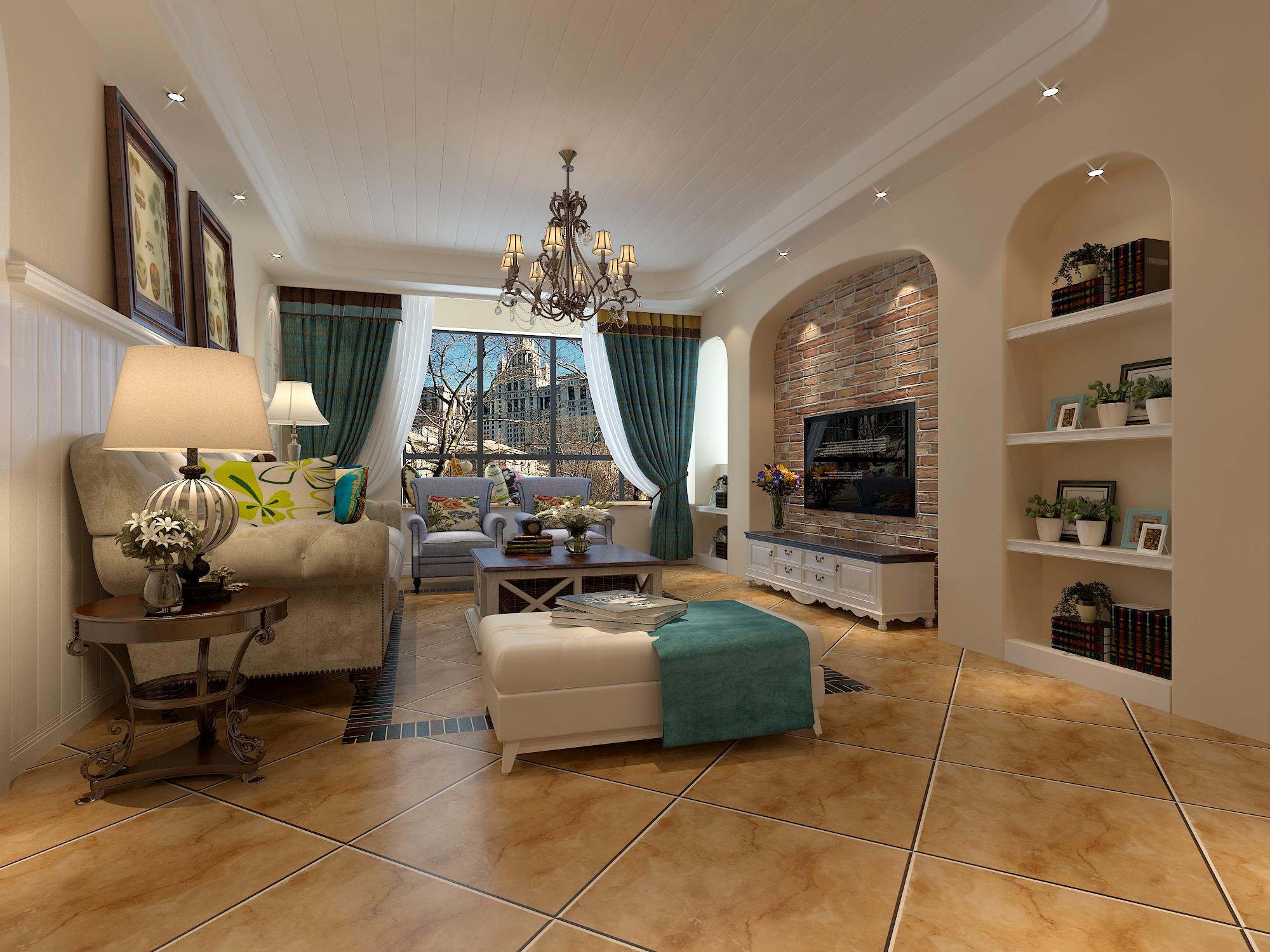 此案为地中海风格,因富有浓郁的地中海人文风情和地域特征而得名。地中海风格装修是最富有人文精神和艺术气质的装修风格之一。它通过空间设计上连续的拱门、马蹄形窗等来体现空间的通透,用栈桥状露台,开放式房间功能分区体现开放性,通过一系列开放性和通透性的建筑装饰语言来表达地中海装修风格的自由精神内涵;同时,它通过取材天然的材料方案,来体现向往自然,亲近自然感受自然的生活情趣,进而体现地中海风格的自然思想内涵;地中海风格装修还通过以海洋的蔚蓝色为基色调的颜色搭配方案,自然光线的巧妙运用,富有流线及梦幻色彩的线条等软装特点来表述其浪漫情怀;地中海风格装修在家具设计上大量采用宽松、舒适的家具来体现地中海风格装
