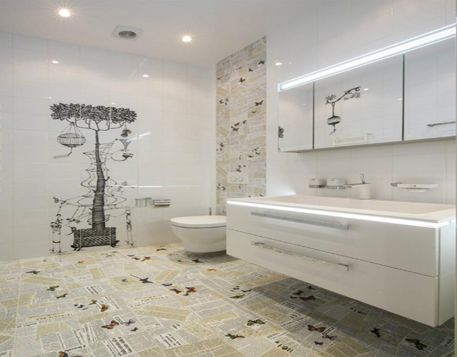 宽敞明亮的卫生间设计。