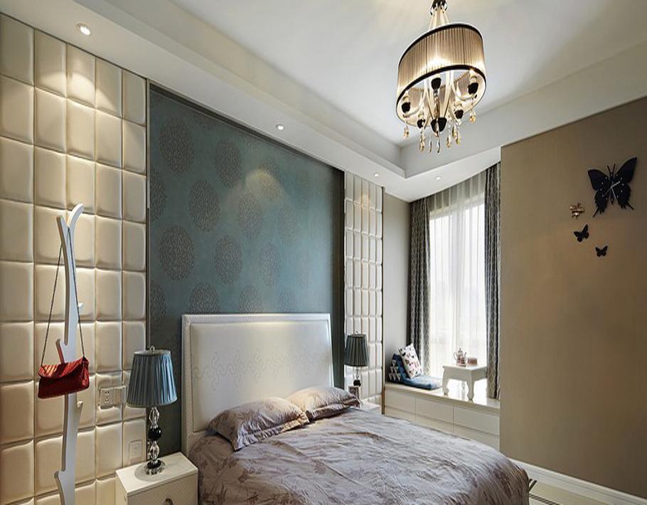 温馨的卧室设计。
