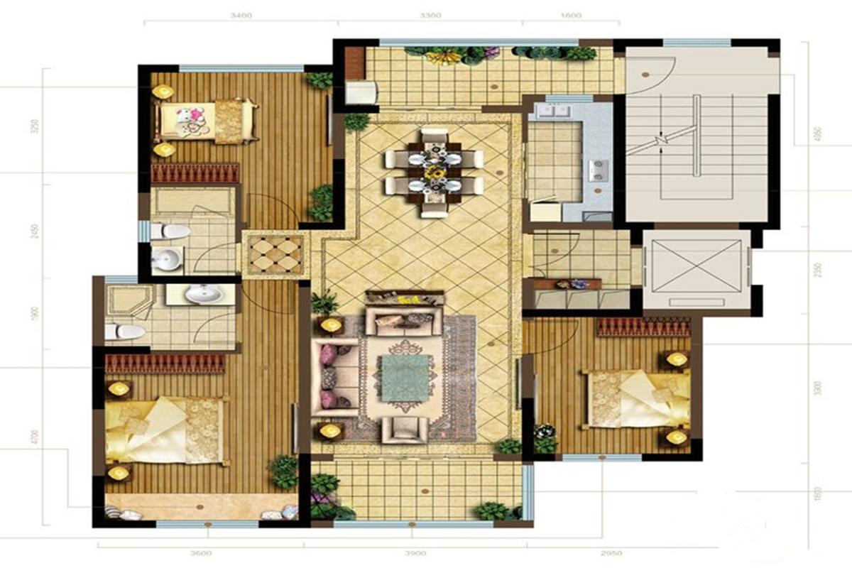 半岛华府-现代简约-三居室-装修案例设计说明