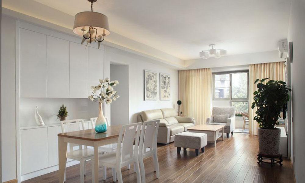 78平米简欧风格二居室,预算7万,点击看效果图!-融信学院府装修