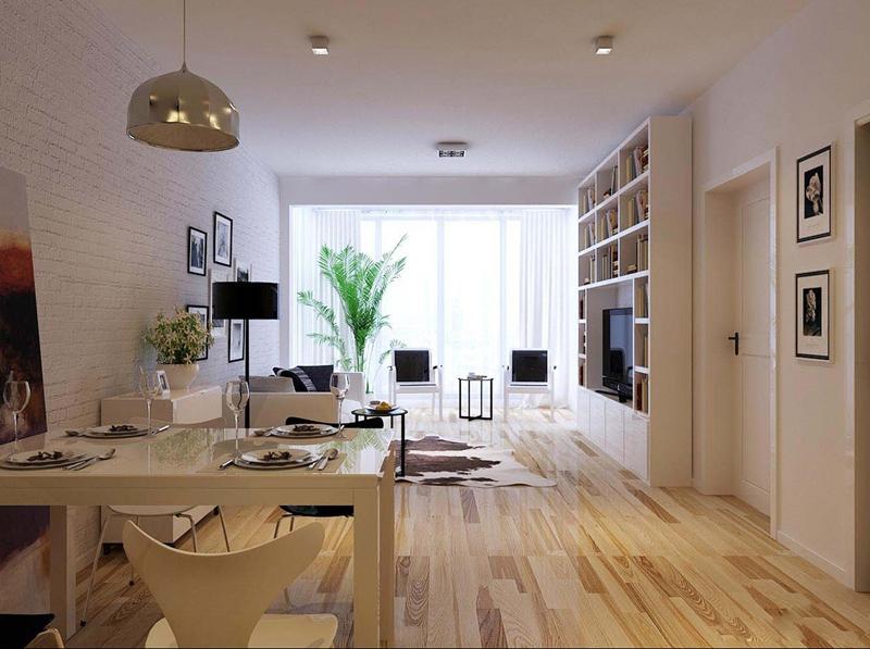 现代简约一居室45平米5万_单身公寓装修案例-衡阳房