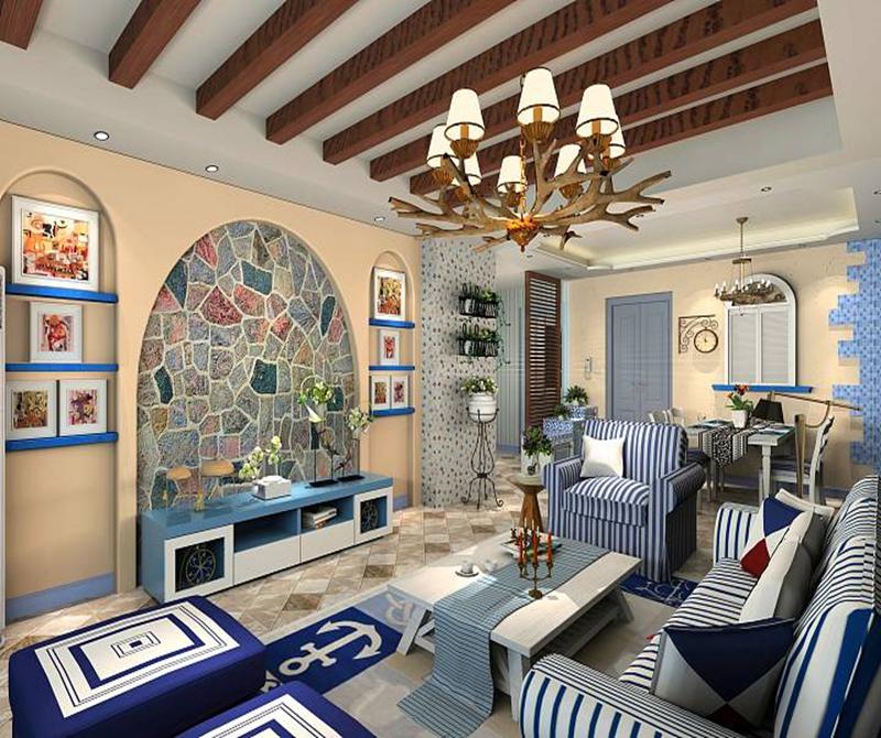 104平米二居室热门案例 地中海全包10万!-大城际装修